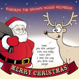 CAN6 – Merry Christmas Card Brown Nosed Reindeer
